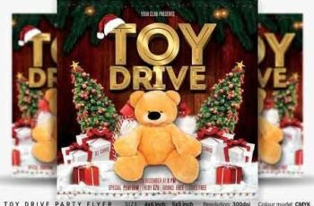 Toy Drive Party Flyer 3248281 7