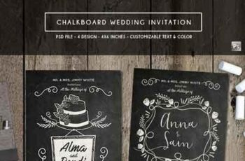 Chalkboard Invitation 19289861 4