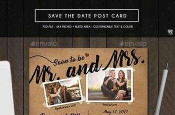 Save the Date Post Card 19337197 3