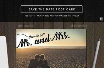 Save the Date Post Card 19349474 6