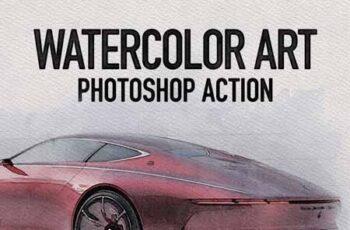 Watercolor Art Photoshop Action 23097800 7