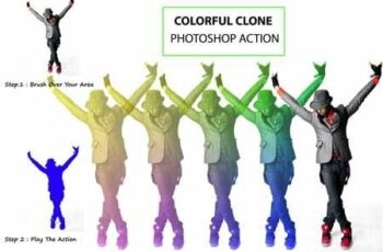 Colorful Clone Photoshop Action 3163427 2