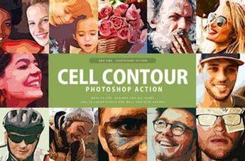 Cell Contour Photoshop Action 3315973 1