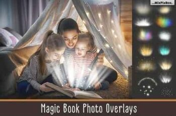 Magic Book Light Photo Overlays 3069587 7