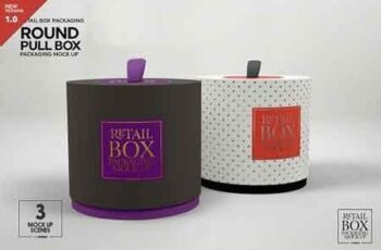 Round Pull Box Packaging Mockup 3246406 7