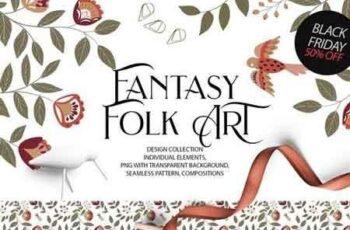 Fantasy Folk ART(design collection) 3093948 3