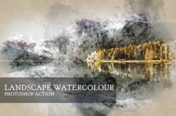Landscape Watercolor Photoshop Action 3524862 5
