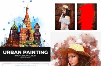 Urban Painting Photoshop Action 22230566 2