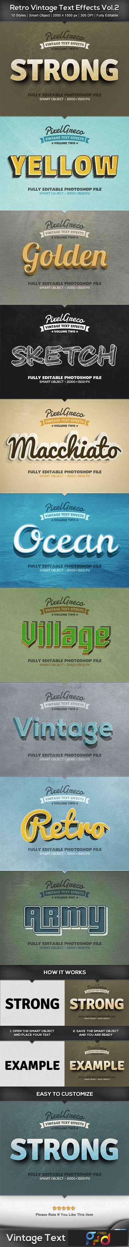 Retro Vintage Text Effects Vol2 22891278 - FreePSDvn