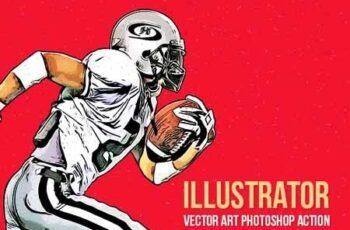 Illustrator - Vector Art Photoshop Action 22222983 7