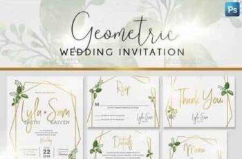 Geometric Wedding Invitation 21620415 4