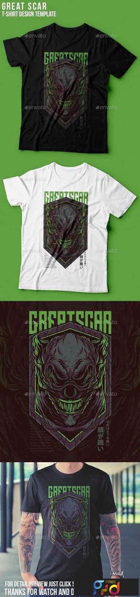 Great Scar T-Shirt Design 22939359 1