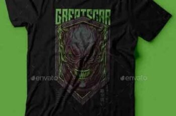 Great Scar T-Shirt Design 22939359 4