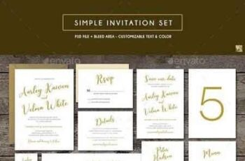 Simple Invitation Set 19086212 4