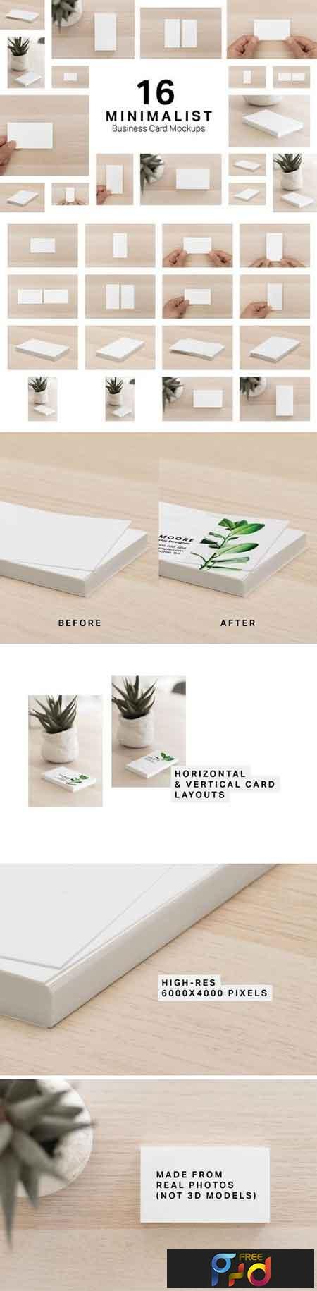 16 Minimalist Business Card Mockups 3251258 1