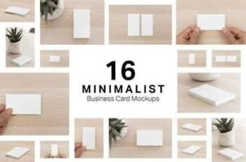 16 Minimalist Business Card Mockups 3251258 7