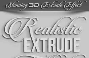 Realistic 3D Extrude Effect 23006917 7