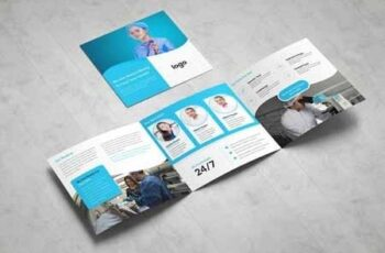 Medical Square Tri fold Brochure 3378795 6