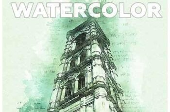 Watercolor Photoshop Action 23142840