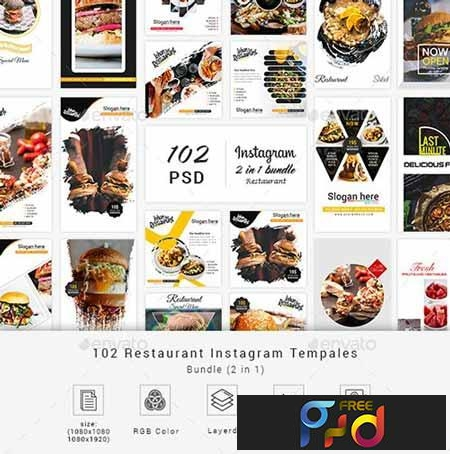 Restaurant Instagram Bundle Social Media 23152960 1