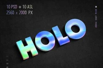 Holographic Text - 10 PSD 23178255 3