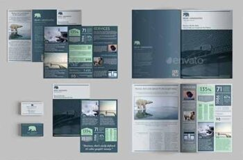 Set of Brochures Stationery Templates 23140515 4