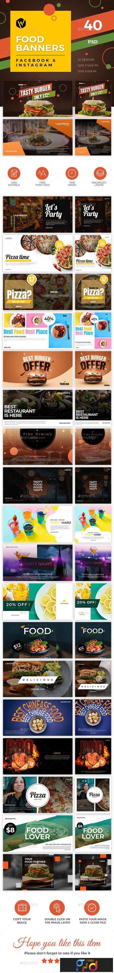 40 Food Banners - Facebook & Instagram 23188414 1