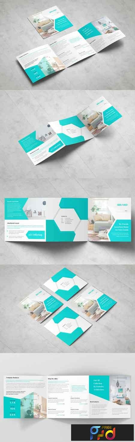Business Square Tri fold Brochure 3378786 1