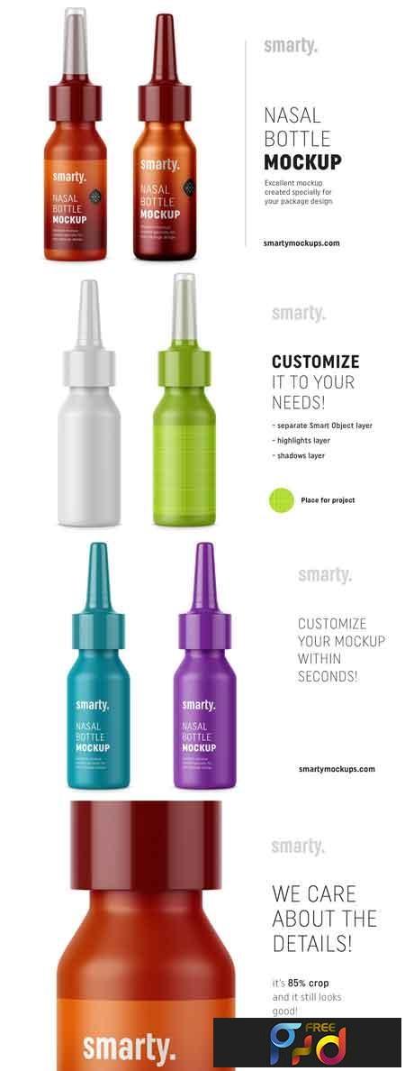 Plastic & metal nasal bottle mockups 3370748 1