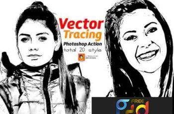 Vector Tracing Photoshop Action 3168806