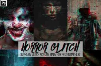 Horror Glitch Photoshop Action 23156098 3