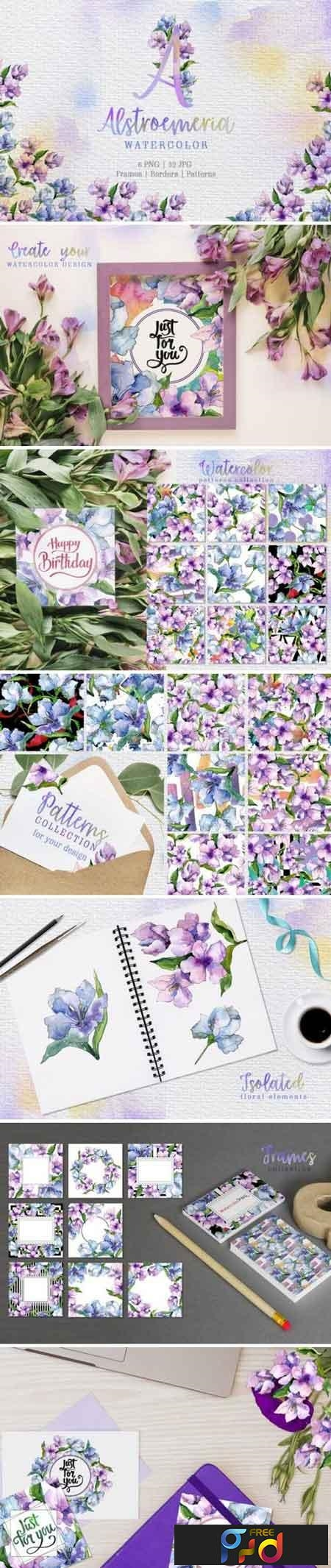 Alstroemeria Violet Watercolor png 3426119 1