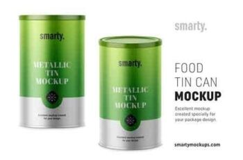 Metallic tin can mockup 3395106 3