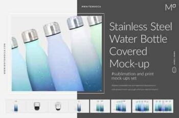 Stainless Steel Water Bottle Mockup 3406394 6