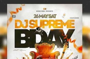 Flyer Dj Bday Template 23160111 3