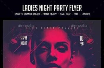 Ladies Night Party Flyer 23156011
