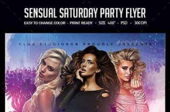 Sensual Saturday Party Flyer 23161125