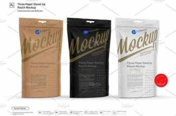 Three Paper Stand-Up Pouch Mockup 3331879 2