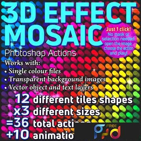3D Effect Mosaic Photoshop Actions 23159000 1