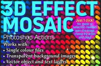 3D Effect Mosaic Photoshop Actions 23159000 5