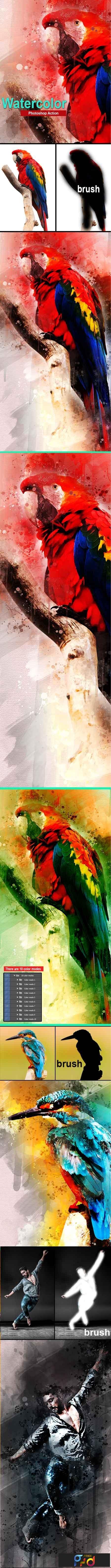 Amazing Watercolor Photoshop Action 23161516 1