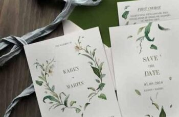 Green Foliage Wedding Invitation Suite 1116824 1