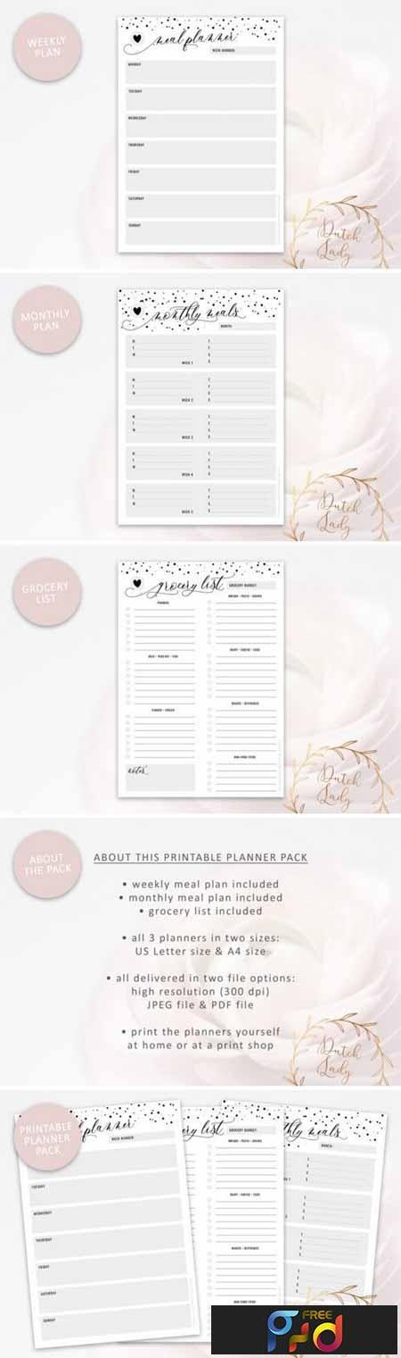 Printable Meal Plan & Grocery List 3447757 1