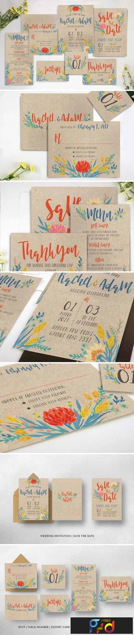 Summer Floral Wedding Invitation Suite 916717 1