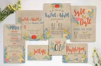 Summer Floral Wedding Invitation Suite 916717 5