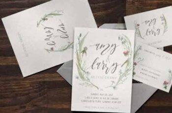 Watercolor Flower Wedding Invitation Suite 892941 1