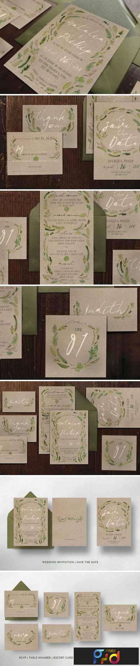 Watercolor Foliage Wedding Suite 1197917 1