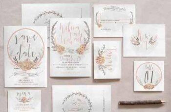 Wreath & Flower Wedding Invitation Suite 799852 4