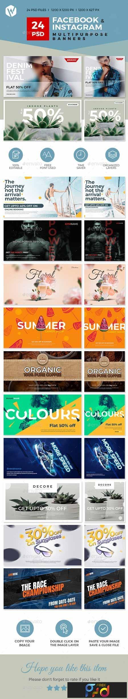 24 Facebook & Instagram Multipurpose Banners 23237608 1