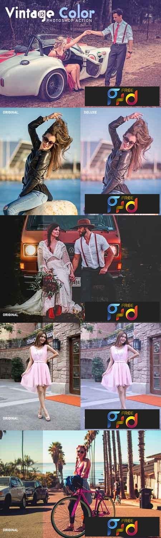 10 Vintage Color Photoshop Action 3531734 1
